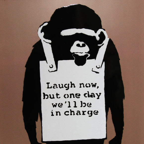 LAUGH NOW MONKEY PRINT