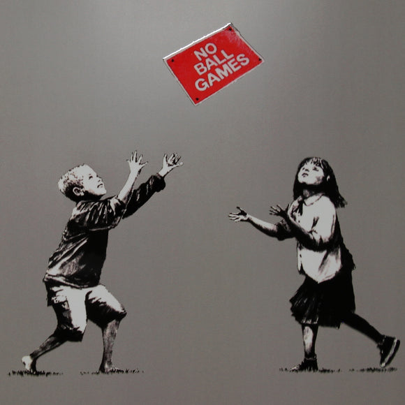 NO BALL GAMES GREY POLYMER PRINT (A3 FRAMED / UNFRAMED)