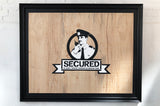 SECURED ON WOOD FRAMED