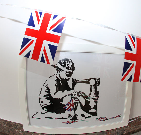 Banksy Slave Labour Framed 3D Wall Art