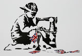 SLAVE LABOUR GIRL WHITE POLYMER PRINT (A3/A4 FRAMED / UNFRAMED)