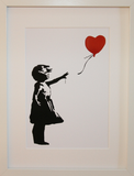 GIRL WITH BALLOON WHITE POLYMER & FOIL PRINT (A3/A4 FRAMED / UNFRAMED)
