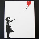 GIRL WITH BALLOON ON CANVAS