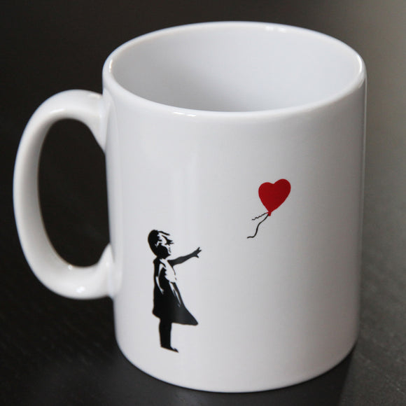 BANKSY GIRL WITH RED BALLOON MUG