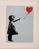 GIRL WITH BALLOON BLUE POLYMER PRINT (A3 FRAMED / UNFRAMED)