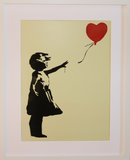 GIRL WITH BALLOON YELLOW POLYMER PRINT (A3 FRAMED / UNFRAMED)