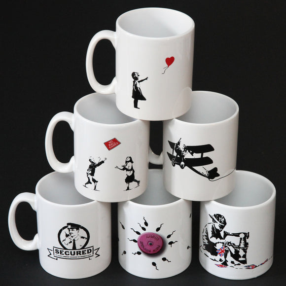 GIFT SET OF 6 BANKSY MUGS