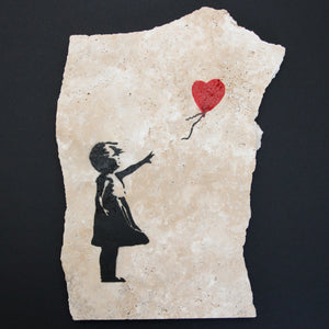 GIRL WITH BALLOON TILE SHARD