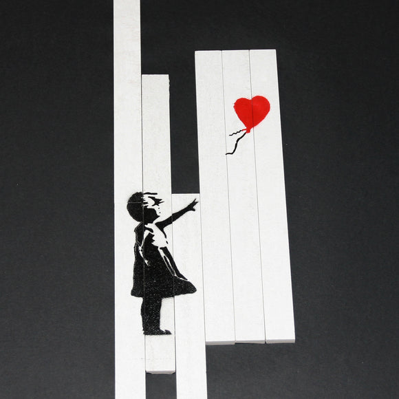 LOVE IS IN THE BIN BANKSY TILES