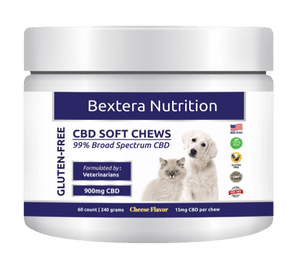 CBD Pet Treats Cheese Flavor I 15mg CBD per chew - Bextera Nutrition