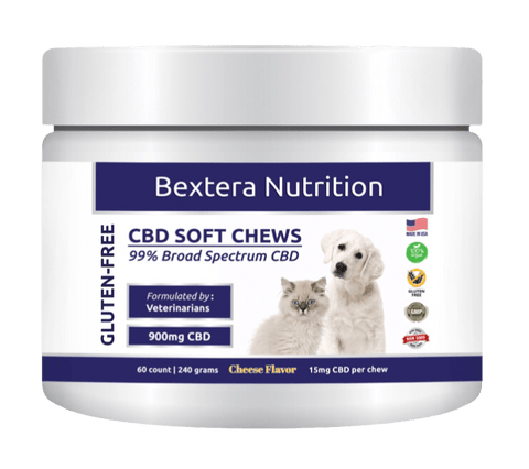Bextera Nutrition CBD Pet Treats Cheese Flavor I 15mg CBD per chew