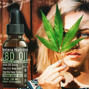 Bextera Nutrition Full Spectrum CBD Oil Tincture 1000mg CBD - Mint Sativa by Bextera Nutrition