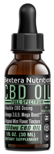 Full Spectrum CBD Oil Tincture 1000mg CBD - Mint Sativa by Bextera Nutrition