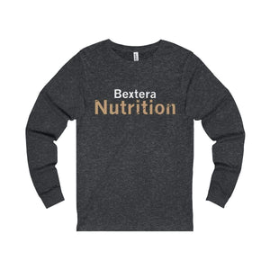 Bextera Nutrition Gear Long-sleeve Dark Grey Heather / S Unisex Jersey Long Sleeve Tee