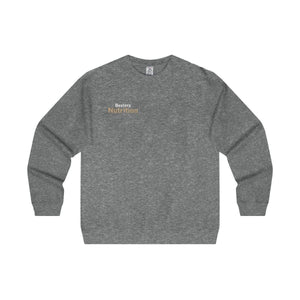 Bextera Nutrition Gear Sweatshirt Gunmetal Heather / S Men's Midweight Crewneck Sweatshirt in 5 colors