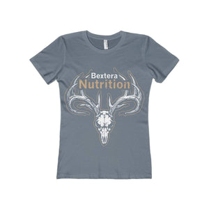 Bextera Nutrition Gear T-Shirt Solid Indigo / S Women's The Boyfriend Tee- Available in 16 great colors!