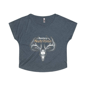 Bextera Nutrition Gear T-Shirt S / Tri-Blend Vintage Navy Women's Tri-Blend Dolman - choose from 8 awesome colors