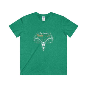 Bextera Nutrition Gear V-neck Heather Irish Green / S Men's Fitted V-Neck Short Sleeve Tee - 5 color options