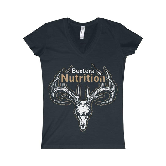 Bextera Nutrition Gear V-neck Black / S Women's Fine Jersey V-neck Tee