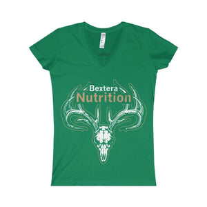 Bextera Nutrition Gear V-neck Kelly / S Women's Fine Jersey V-neck Tee