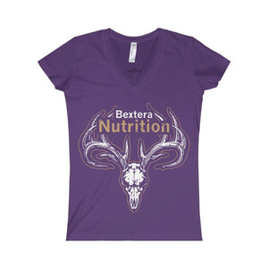 Bextera Nutrition Gear V-neck Purple / S Women's Fine Jersey V-neck Tee
