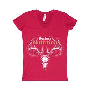 Bextera Nutrition Gear V-neck Red / S Women's Fine Jersey V-neck Tee