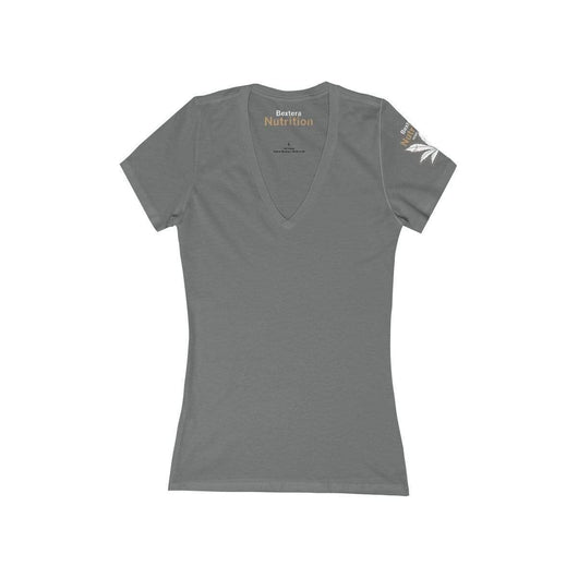 Bextera Nutrition Gear V-neck Asphalt / S Women's Jersey Short Sleeve Deep V-Neck Tee in 8 awesome colors!
