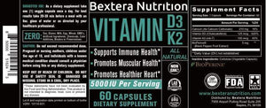 Bextera Nutrition Products Bextera Nutrition - Vitamin D3 with K2
