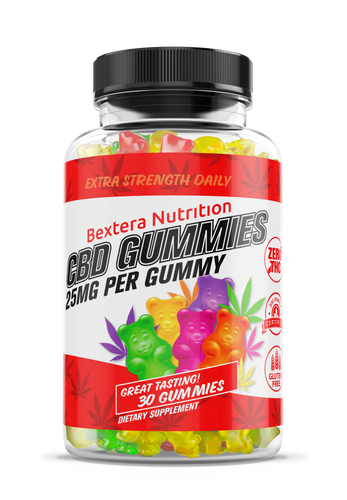 Bextera Nutrition Products CBD gummies - 25mg CBD per Gummy Bear