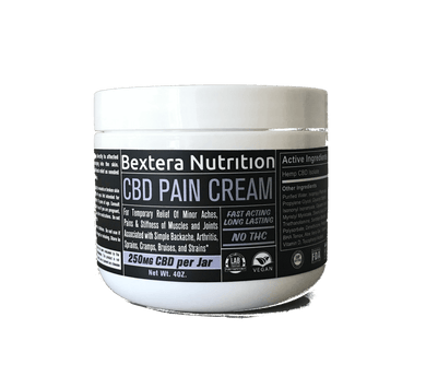 CBD Pain Cream 4oz jarI CBD Muscle and Joint Cream I Bextera Nutrition - Bextera Nutrition