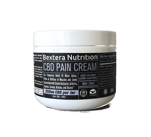 Bextera Nutrition Products CBD Lotions, Rubs, Sprays Fitness - Muscles & Joints CBD Pain Cream 4oz jarI CBD Muscle and Joint Cream I Bextera Nutrition