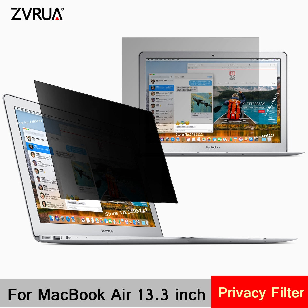 2018 anti-spy Privacy Protective LCD Screen Filter For MacBook air 13/""