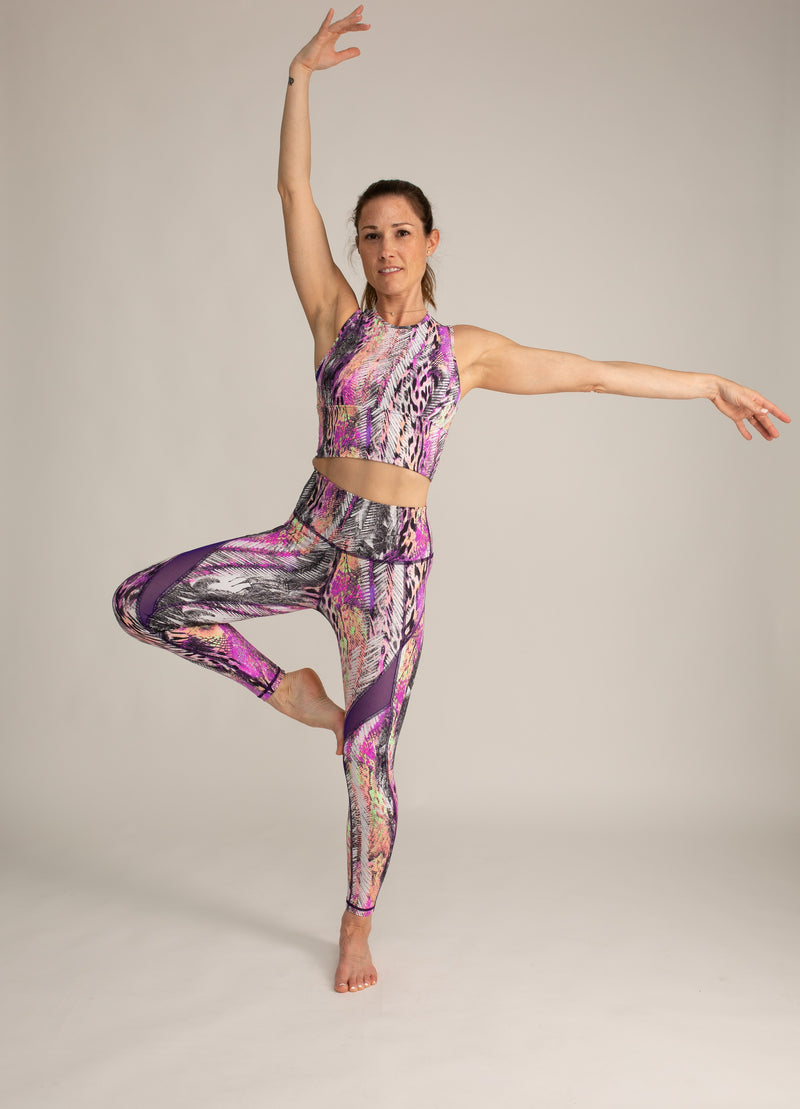 the best High-Rise Waistband leggings pink purple