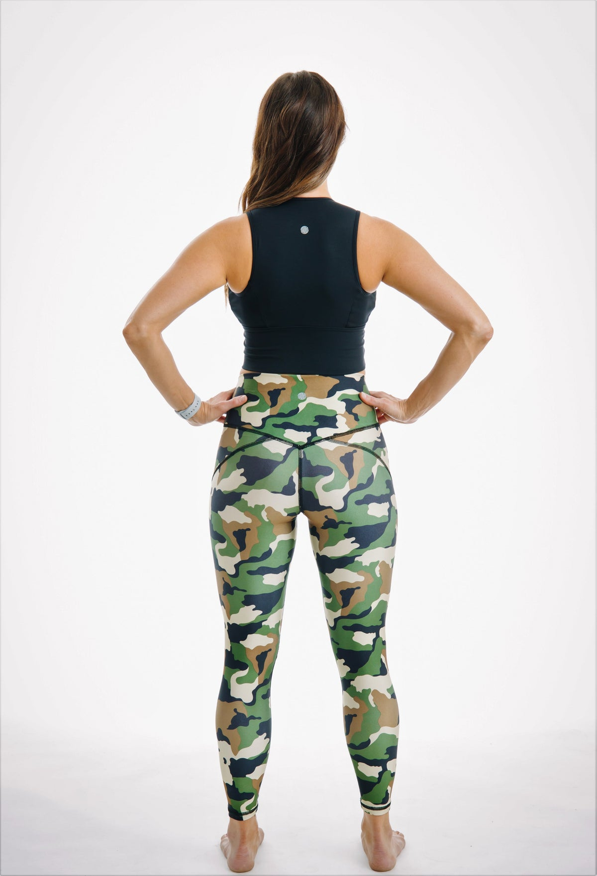 Camo running mesh leggings yoga pants 7/8 length