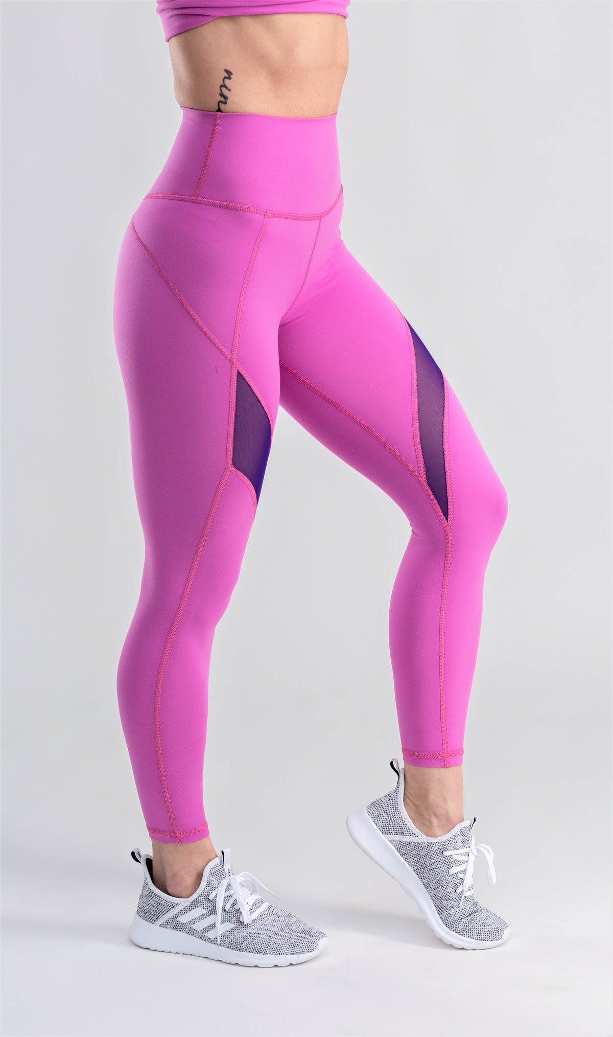 Pink mesh leggings
