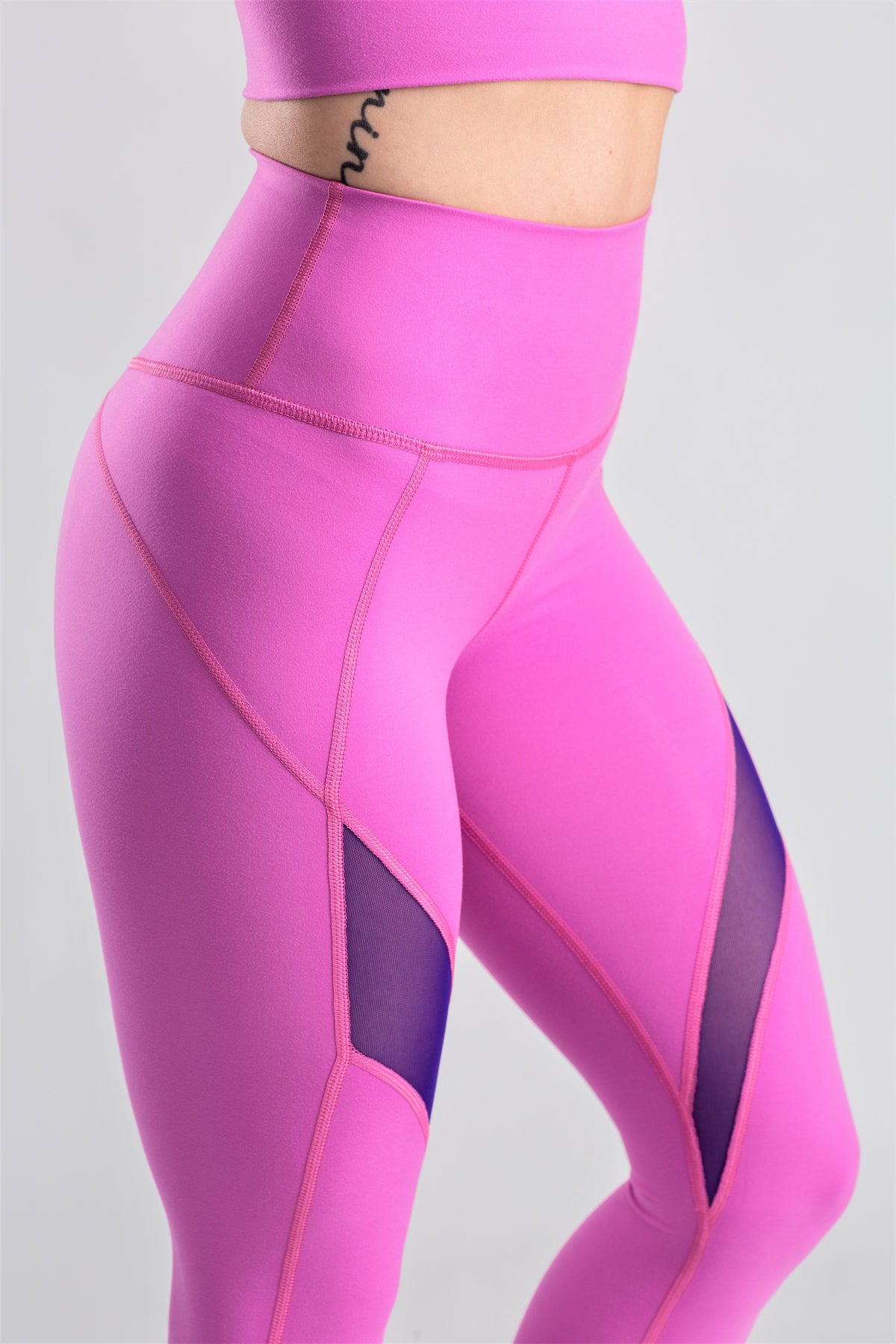 High Waisted Pink Leggings