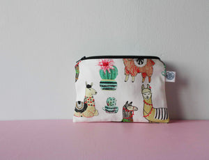 Reusable snack bag cacti and llamas
