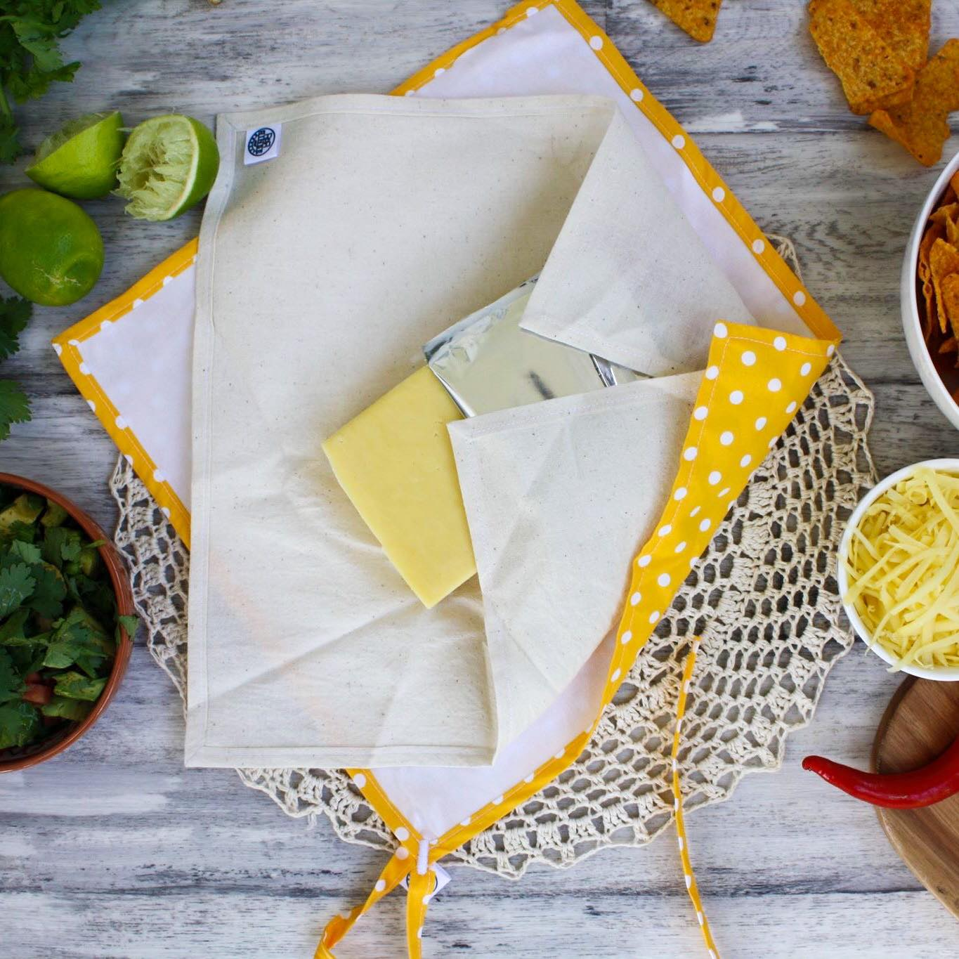 Cheese Wrap System | YELLOW POLKA DOT