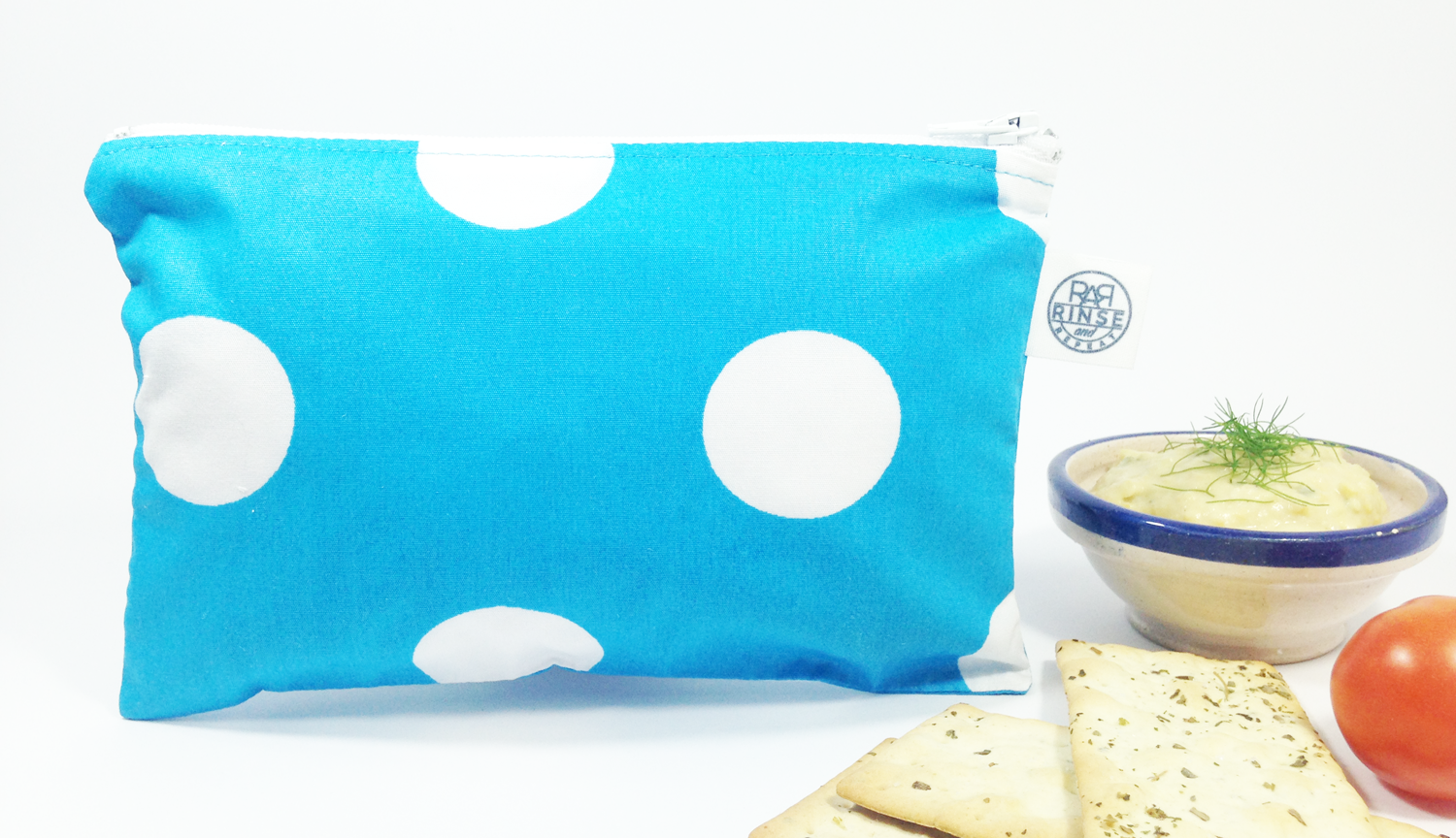 BLUE & WHITE POLKA DOTS | Snack Bag