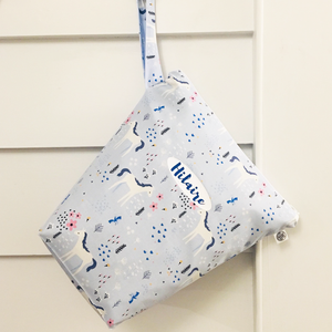 BLUE MEADOW | Personalised Wet Bag