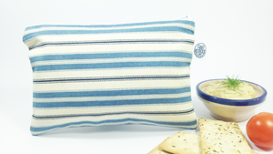 BLUE & WHITE STRIPES | Snack Bag