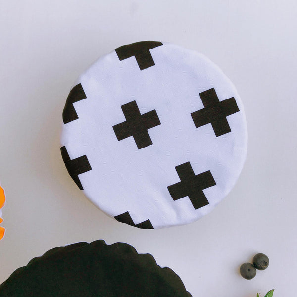 GOLD, BLACK & CROSSES | Bowl cover set of three