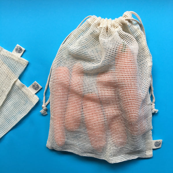 PRODUCE BAGS | Organic Cotton - 6 pack