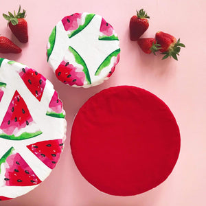 WATERMELON & RED | Bowl cover set of three
