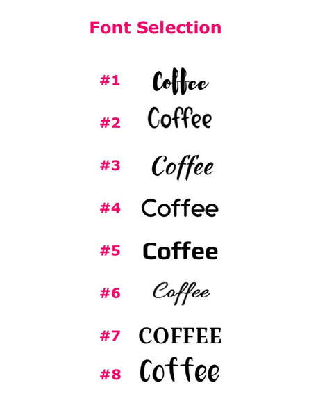 HOT DRINKS | Decal set