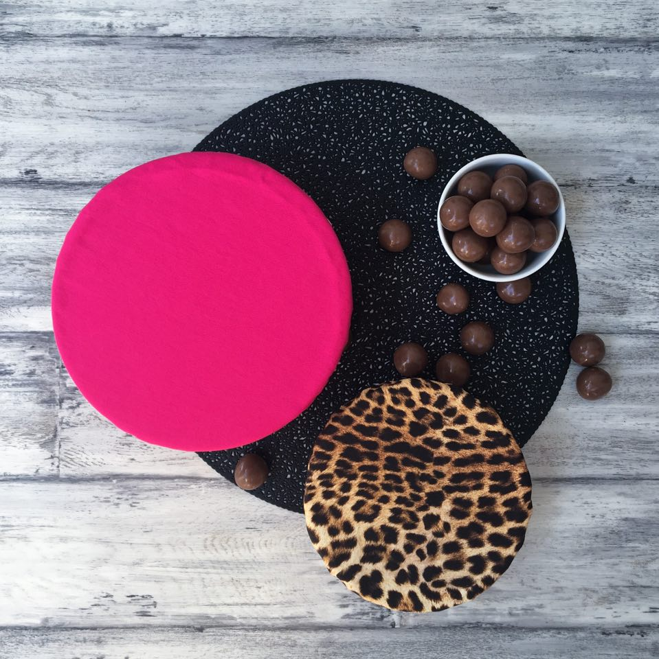 LEOPARD & PINK DUO | Bowl Cover Set