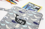 NAUTICAL WHALE | Book Bag