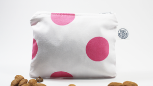 PINK & WHITE POLKA DOTS | Snack Bag