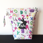 RAINBOW ALPHABET | Personalised Wet Bag
