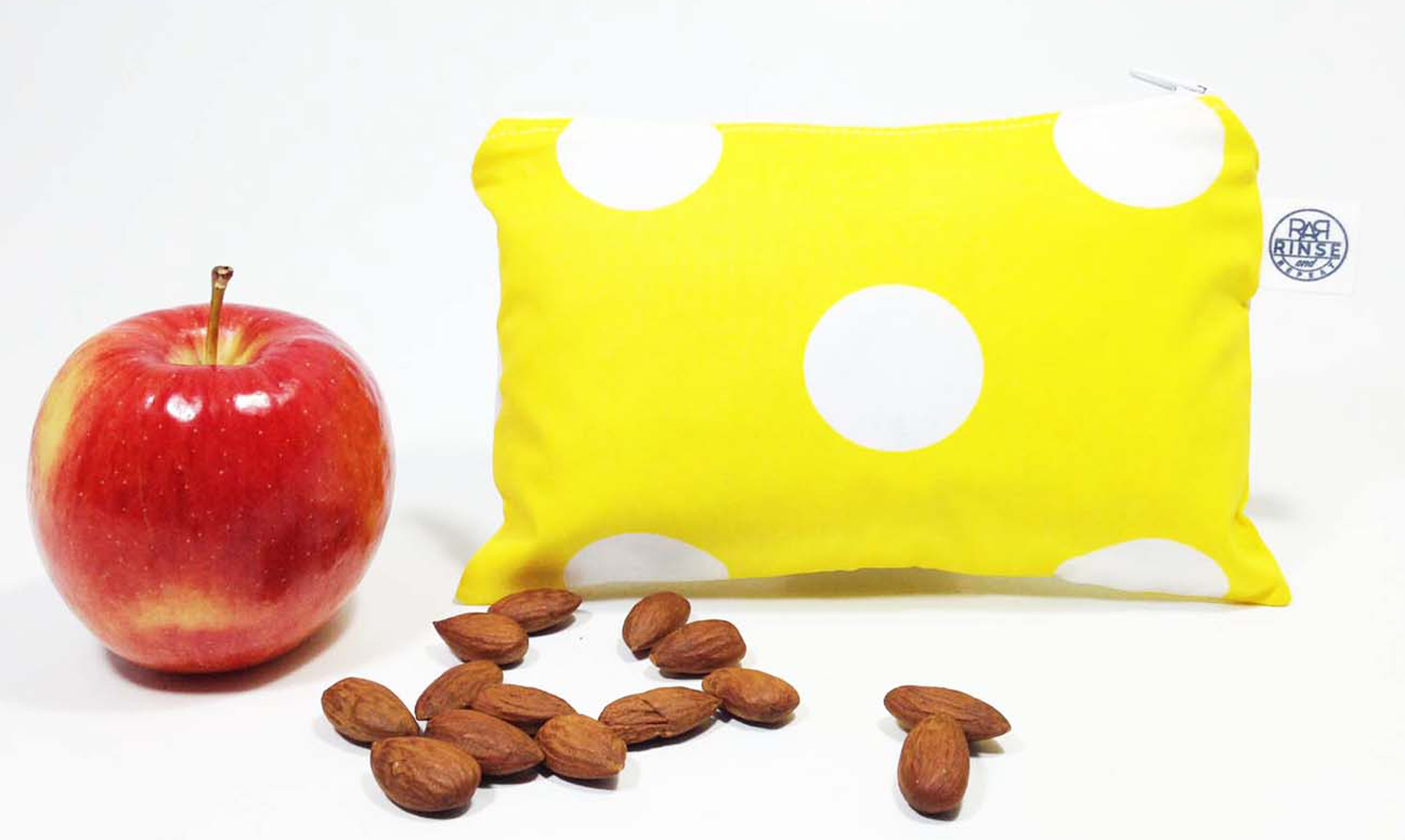 YELLOW & WHITE POLKA DOTS | Snack Bag